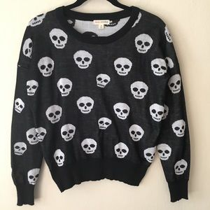 Halloween Skull Crewneck Sweater Zenana